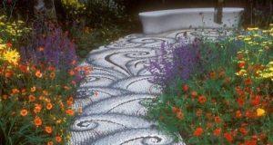 wave decoration walkway