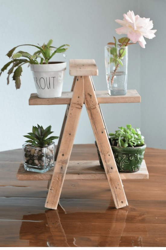 TINY LADDER PLANT STAND