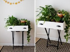 UPCYCLED DRAWER PLANT STAND DIY