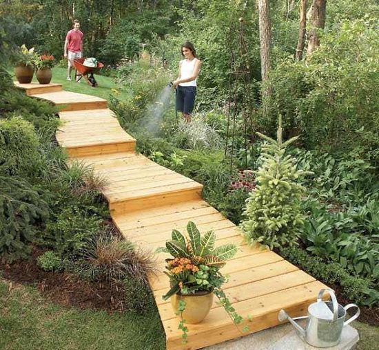 wooden plank walkway