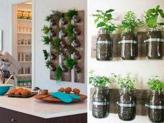 Mason Jar Vertical Garden