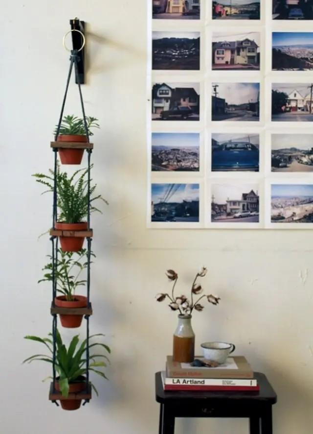 DIY Pot Hanger indoor vertical garden